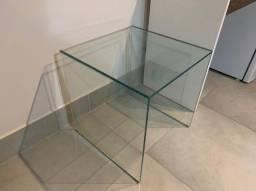 Aparador/mesa canto De Vidro verde  50X50x50