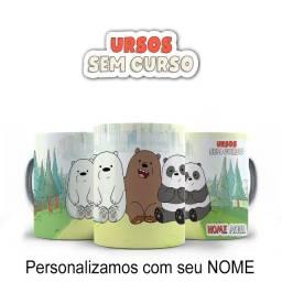 Ursos Sem Curso Caneca Personalizada para presentear com nome