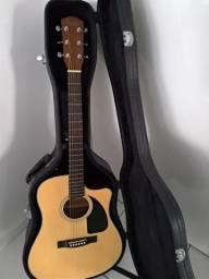 Violão Elétrico Fender CD-60CE + Case Fender + Cabo Stagg 3M