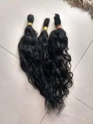 Cabelo brasileiro ondulado 50 cm