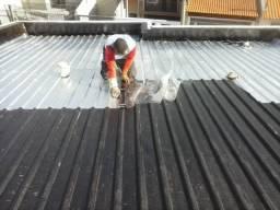 Calhas, Rufos, Reparo de Telhados e Vazamentos, Troca de telhas