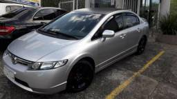 Honda Civic completo, automático, multimídia touth, bluetooth, interior cinza - 2008