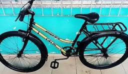 Bicicleta aro 26 com rodas aero.