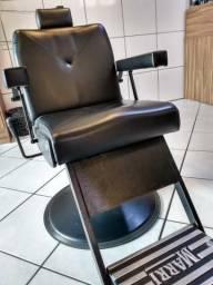 Cadeira e Lavatório Barbearia - 10x Sem Juros