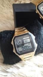 Relógio digital skmei 1335 masculino original-pulseira em aço- novo- dividimos cartão