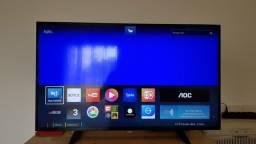 Smart Tv AOC led 32 pol wifi integrado Netflix zerada esta tá valendo em Poa-rs