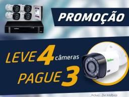 Intelbras Promoção Kit 4 Câmeras de Segurança Cftv Câmeras Infravermelho Dvr Hd FullHd