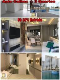 T- 10% de Entrada_Varandas_ITBI e Registro Grátis_Apartamento No Calhau- 3 Quartos