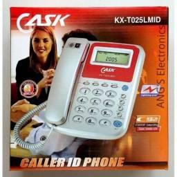 Aparelho Telefone Fixo Fio Bina Identificador Chamada- Loja Minichina