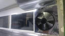 Inox cozinha industrial e exaustor centrífuga