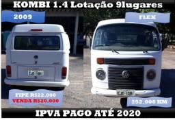 Kombi 1.4 2009 Flex 9 Passageiros Revisada Aceito Veículo ou Lote - 2009
