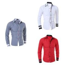 Camisa social masculina de luxo barato (aceitamos cartões de crédito e débito)