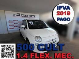 Fiat 500 2012 1.4 cult 8v flex 2p manual - 2012