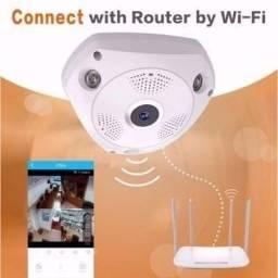 Camera Panoramica Segurança 3d Wi-fi 360° Vr Cam Infravemelh