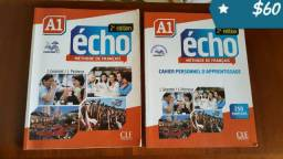 2 Livros de francês Echo 1 A (acompanha cd de áudio)