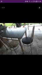 5 mesas de mármore + 17 cadeiras