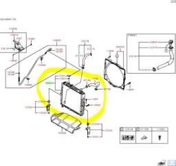Radiador Kia bongo k2500 07/16 nacionalizado cód 253104E400SM
