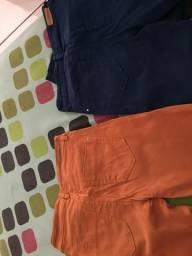 Calças coloridas