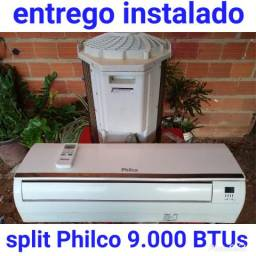Entrego instalado, split Philco 9.000 BTUs