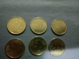 Moedas 50 centavos 1994 e 1995