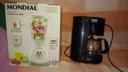Liquidificador 500w cafeteira Arno Porte pequena