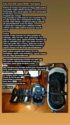 Carrinho com bebê conforto Graco aire3 e duas bases para carro