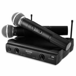 Microfone sem fio duplo weisre Pgx_51 profissional