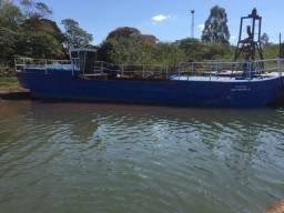 Barco p Transporte de Areia (Batelão 40m3) motor Mercedes