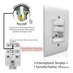tomadas e interruptores direto de fabrica