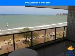04 quartos frente ao mar, vista total da praia do morro guarapari