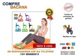Extensor Elástico Body Trimmer Exercício Malhação Treino Musculação