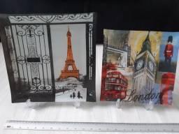 Pratos decorativos países Paris e Londres