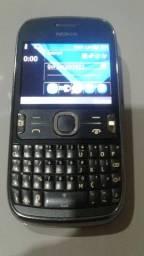 Título do anúncio: Nokia 302 rádio FM teclado querty  ótimo estado