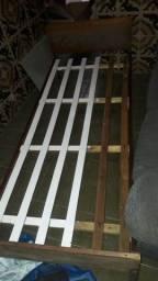 Título do anúncio: Cama solteiro madeira maciça