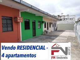 Vendo residencial 4 apartamentos de 2 qrts