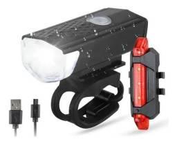 Kit Bike Lanterna E Farol Bicicleta Luz Ultra Led A Prova D'água<br><br>