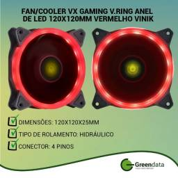 Título do anúncio: Cooler para Gabinete 120x120x25mm 12v Led Vermelho