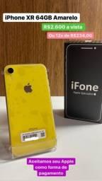 Título do anúncio: Promoção iPhone XR 64GB Amarelo em perfeito estado, Loja Física 3 meses de Garantia.