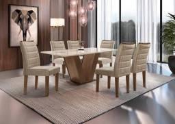 Título do anúncio: Mesa de Jantar Classic Cel Móveis 06 Cadeiras - Entrega Imediata!