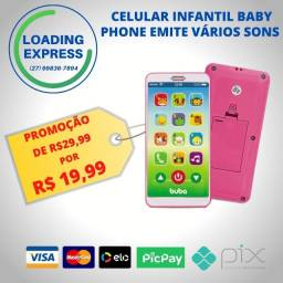 Celular Infantil Baby Phone Emite Vários Sons