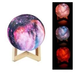 Umidificador E Luminária Rgb Diversas Cores Galáxia Universe
