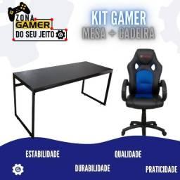 Título do anúncio: Kit Gamer Mesa + Cadeira - Parcelamos em 12 X