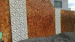 Revest. 3D gesso cimenticia pedras