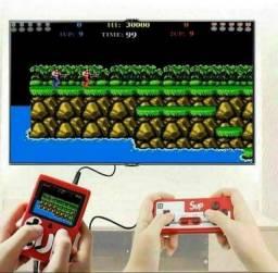 Mini Game Box com 2 controle Portátil 400 Jogos Sup Boy Recarregável Retro (Novo)