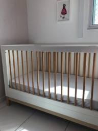 Berço mini cama quarter + colchão Ortobom