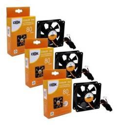 Título do anúncio: Cooler Fan Ventilador de Gabinete Dex 8 cm 80 mm Alta Performance