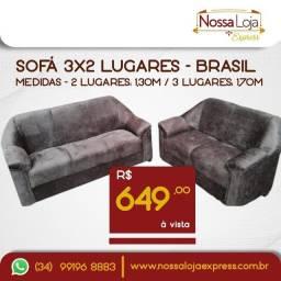 Título do anúncio: Sofá de 3 e 2 lugares - Entrega em Araguari, Uberaba, Monte Alegre e Tupaciguara