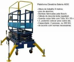 Plataforma elevatória para serviços em altura, plataforma tipo tessoura,