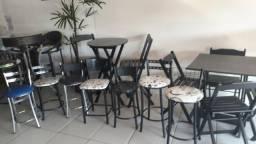 Mesas banquetas cadeiras bistros