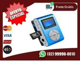 Megah-Preço-MP3 Player com Entrada SD e Fone de Ouvido